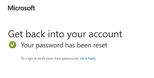 Your password has been reset