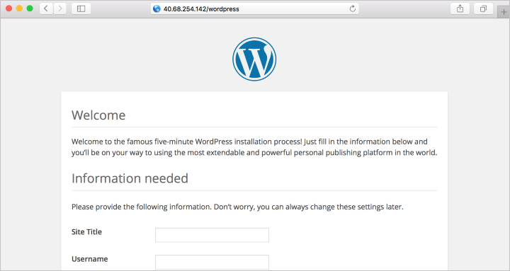 WordPress 安装页