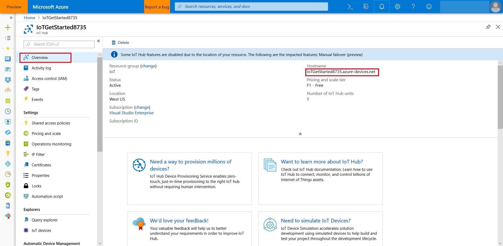 IoT DevKit 到云- 将IoT DevKit AZ3166 连接到Azure IoT 中心| Azure Docs