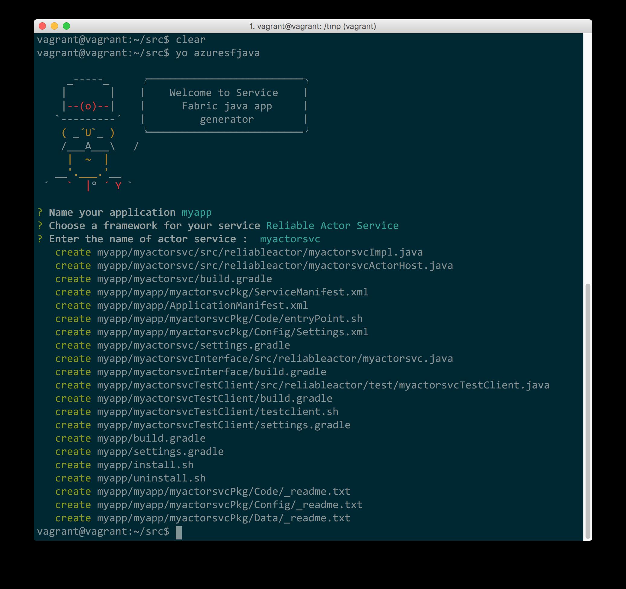 在 Linux 上创建第一个 Service Fabric Java 应用程序